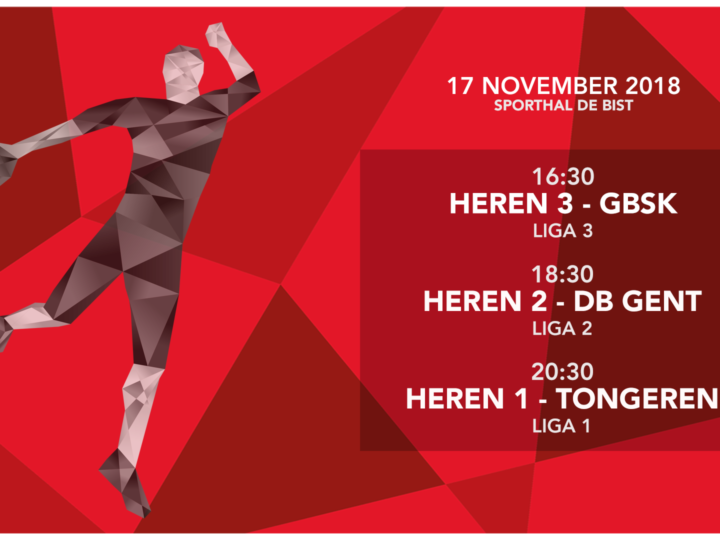 Thuismatchen herenteams 17/11