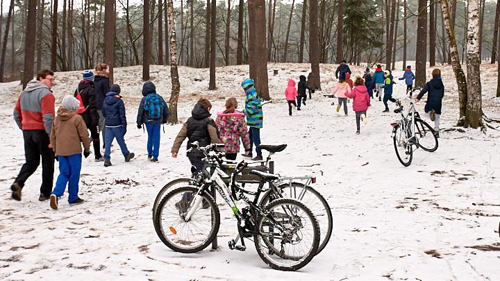 winterweekend zaterdag : sneeuw en glijpret