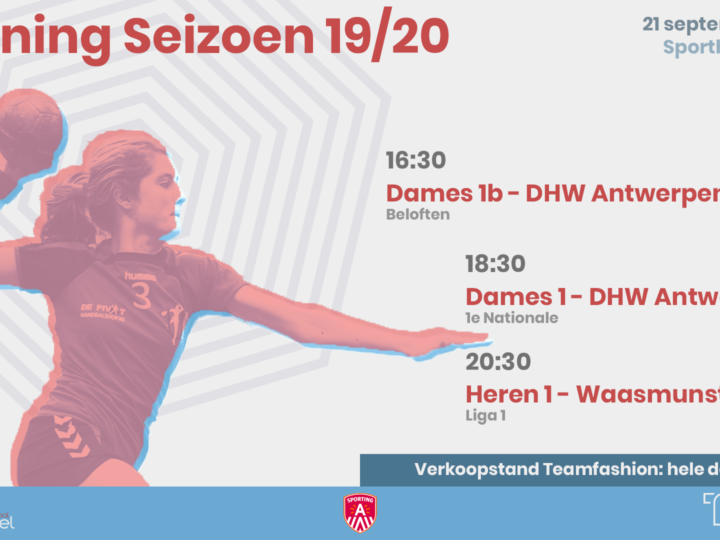 openingsweekend  seizoen 2019-2020