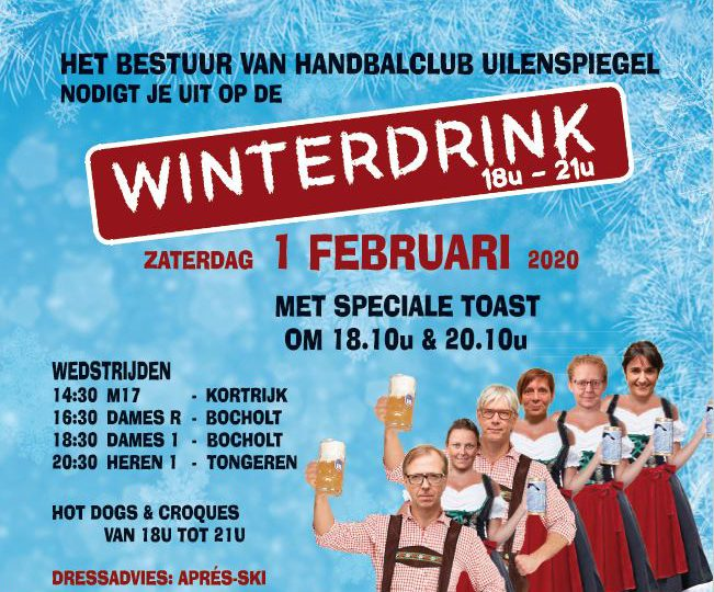 1 februari winterdrink en après-ski party